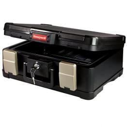 Feuerfeste  und Wasserdichte Geldkassette 40,7 x 32,0 x 16,6 cm, schwarz
