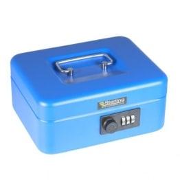 Sterling CB02C Geldkassette, mit Zahlenschloss, Blau - 1